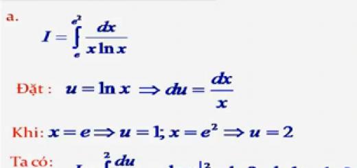 Trắc nghiệm nguyên hàm tích phân