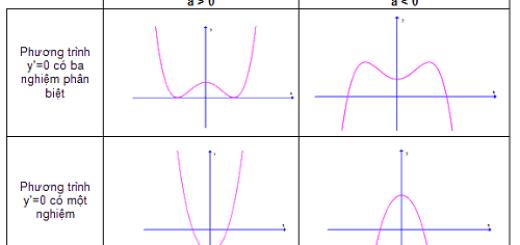 đồ thị hàm bậc 4
