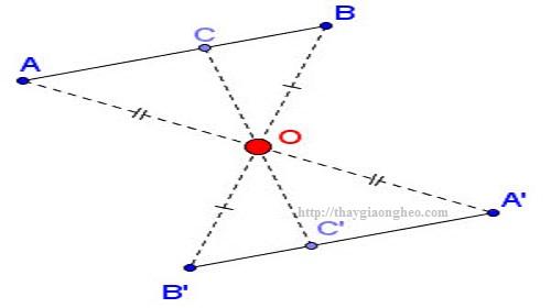Tìm phương trình đường thẳng bằng phép đối xứng tâm