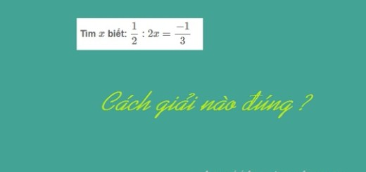 cách giải nào đúng cho bài toán tìm x