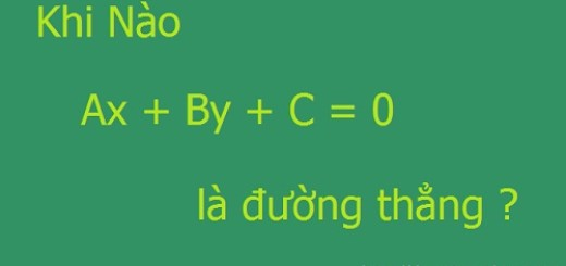 Điều kiện để phương trình là phương trình đường thẳng