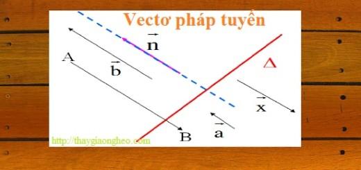 xác định vectơ pháp tuyến của đường thẳng