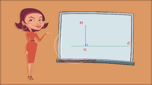 Tìm hình chiếu vuông góc của điểm lên đường thẳng
