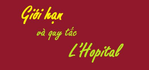 Tìm giới hạn dạng vô định bằng quy tắc L'Hopital