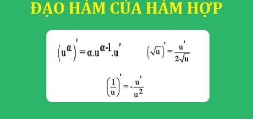 Cách tính đạo hàm của hàm số hợp