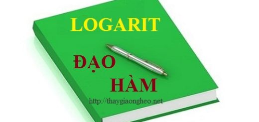 Dao ham cua ham so logarit