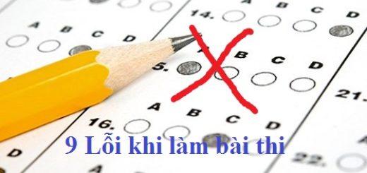 9 Lỗi học sinh cần tránh khi làm bài thi trắc nghiệm môn toán