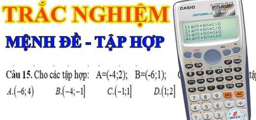 TRAC NGHIEM MENH DE TAP HOP LOP 10